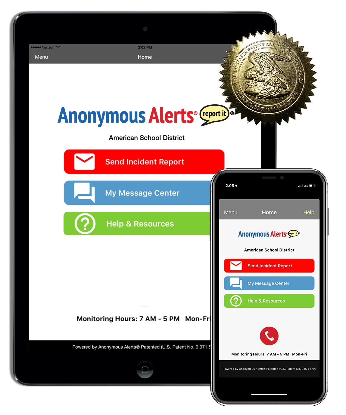 Anonymous Alerts Safety and Bullying Reporting App