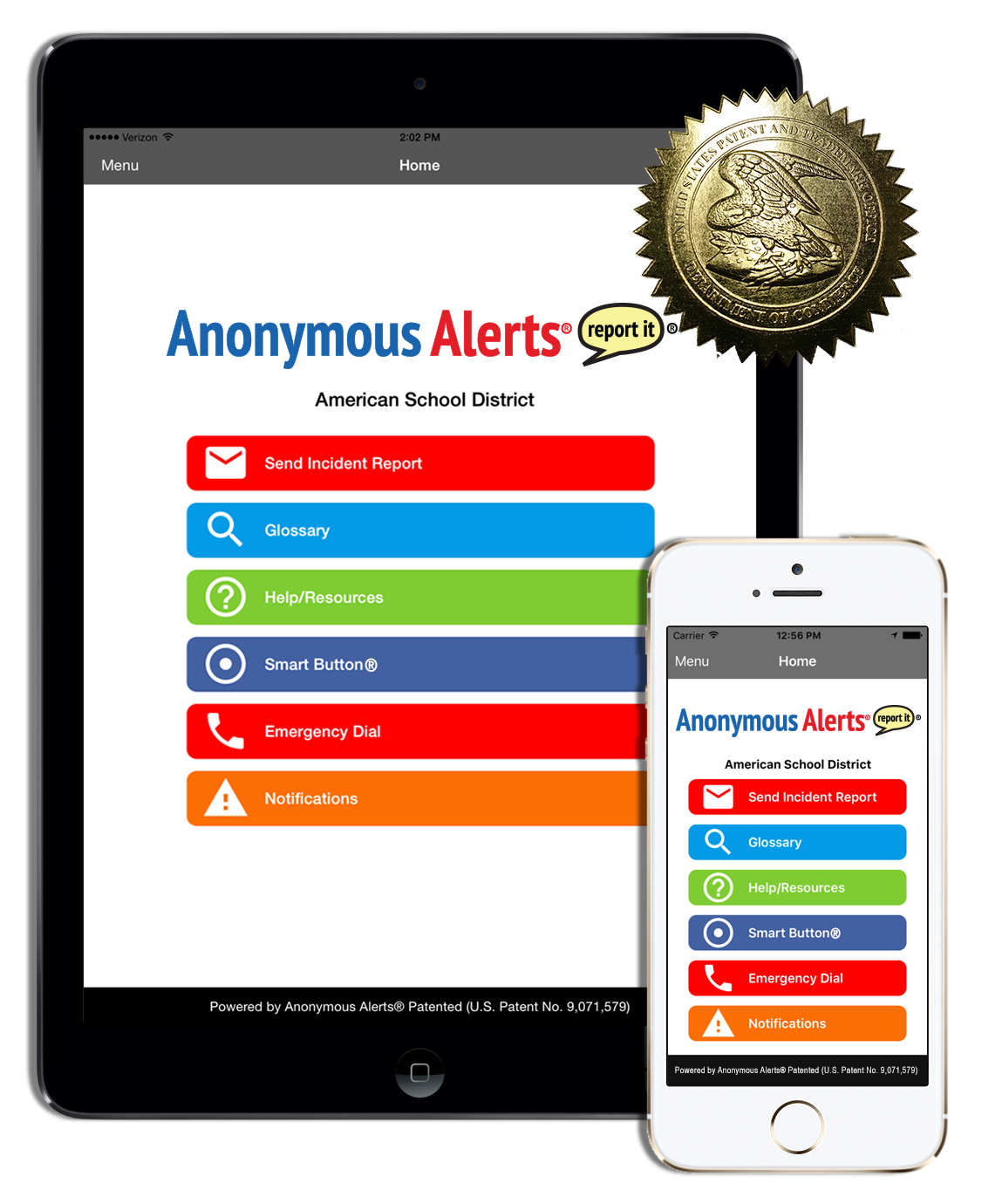 Anonymous Alerts mobile app