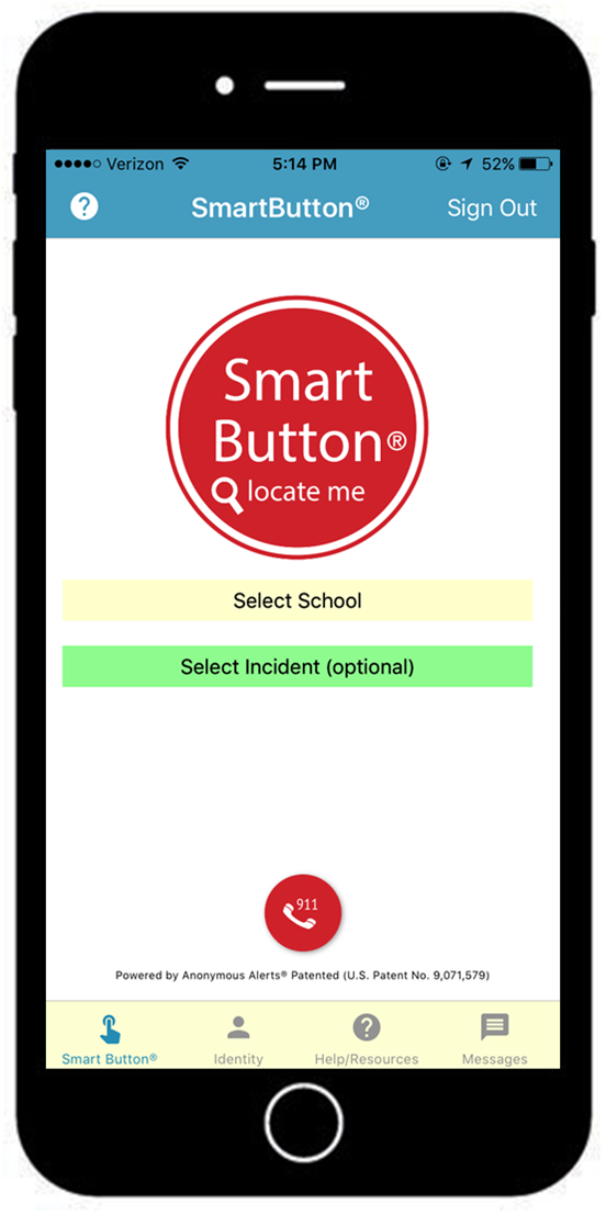 Smart Button Safety Reporting app